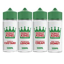donut king 100ml e-liquid shortfill vape juice
