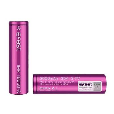 Efest 18650 3000mAh vape battery